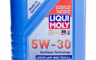 Обзор масла liqui moly molygen new generation 5w-30