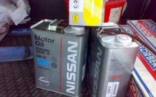 Замена моторного масла в кашкай для разных моторов