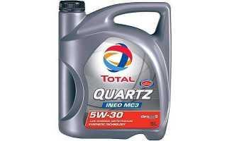 Характеристики моторного масла total quartz ineo mc3 5w-30