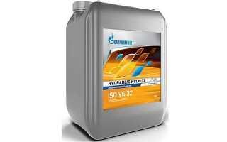 Гидравлическое масло gazpromneft hydraulic hvlp-32