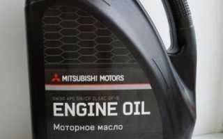 Какое масло заливать в двигатель mitsubishi lancer 10?